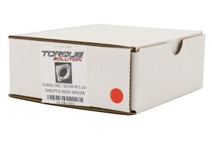 Torque Solution 19mm Throttle Body Spacer Silver - Scion FR-S 2013-2016 / Subaru BRZ 2013+ / Toyota 86 2017+