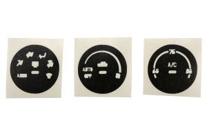 Subtle Solutions AC Knob Overlays Matte Black ( Part Number: INT-AC57-BLK)
