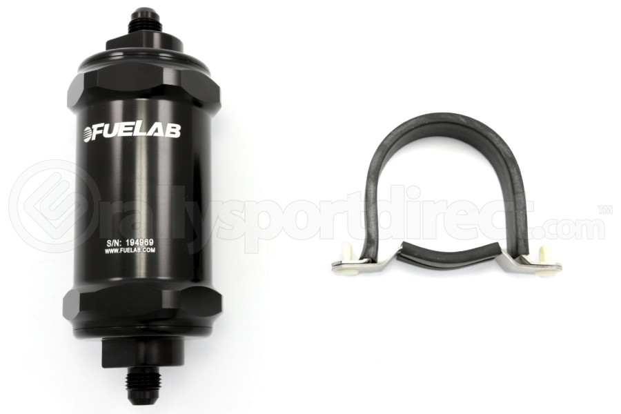 Fuelab Black- In-Line Fuel Filter Standard Length (Part Number:81802-1)