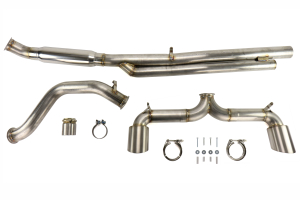 ETS Extreme Catback Exhaust System No Muffler Resonated - Ford Focus RS 2016 - 2020