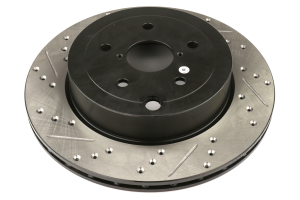 Stoptech Drilled and Slotted Rotor Pair Rear - Subaru STI 2008-2017