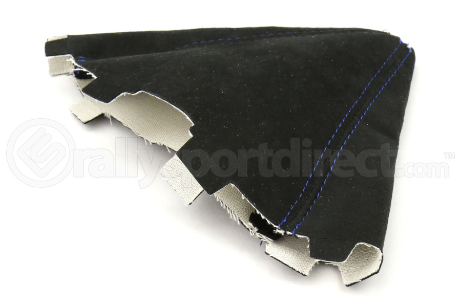 AutoStyled Black Microsuede Shift Boot w/Blue Stitching - Ford Focus ST 2015+ / Ford Focus RS 2016+