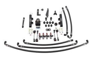 IAG PTFE Fuel System Kit w/ Injectors, Lines, FPR, Fuel Rails - Subaru WRX 2008 - 2014