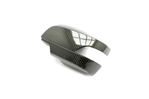 OLM LE Dry Carbon Fiber Full Mirror Covers w/ Turn Signal Hole - Subaru WRX / STI 2015+