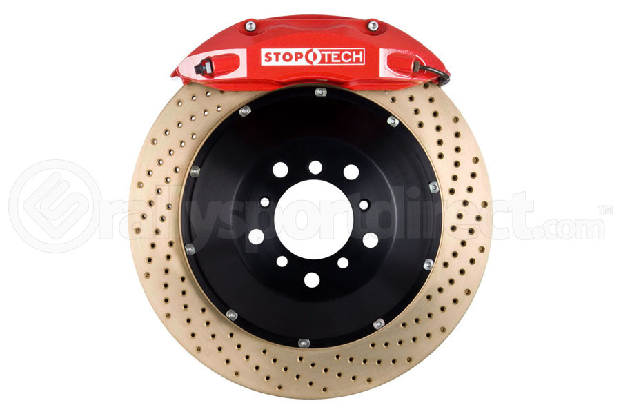 Stoptech ST-40 Big Brake Kit Front 332mm Red Zinc Drilled Rotors (Part Number:83.836.4600.74)