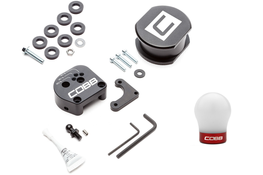 COBB Tuning Stage 1+ Drivetrain Package w/ White / Red Shift Knob - Ford Focus ST 2013+ / RS 2016+
