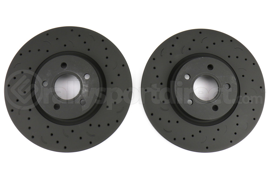 Hawk Talon Cross Drilled and Slotted Front Rotor Pair - Ford Focus ST 2013