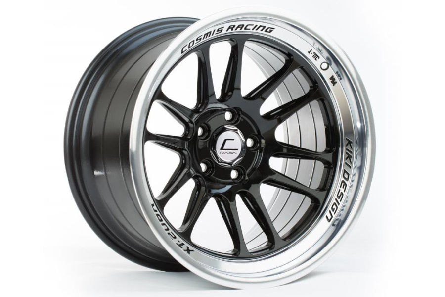 Cosmis Racing Wheels XT-206R 17x9 +5 5x114.3 Black w/ Machined Lip - Universal