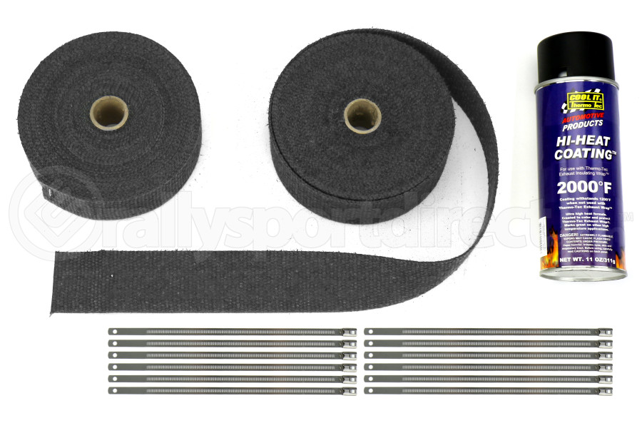 Thermo Tec Exhaust Wrap Kit 2in Black (Part Number:19222)