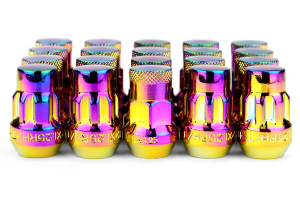 Muteki SR35 16+4 Closed Ended Neo Chrome Lug Nuts 35mm 12x1.25 (Part Number: 32925NP)