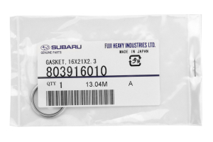 Subaru OEM Oil Drain Plug Crush Gasket 14mm (Part Number: 803916010)