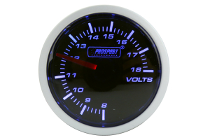 ProSport Voltmeter Gauge Electrical 52mm Blue/White (Part Number: 216BFWBVOSM)