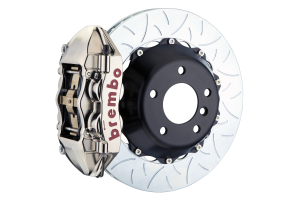 Brembo GT-R Systems 4 Piston Rear Big Brake Kit Nickel Plated Slotted Rotors - Subaru WRX/STI 2015-2017 Models without Electronic Parking Brake / BRZ 2013+ / Scion FR-S 2013-2016