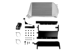 Mishimoto Race Top Mount Intercooler Kit Silver w/ Black Charge Pipe - Subaru WRX 2015+