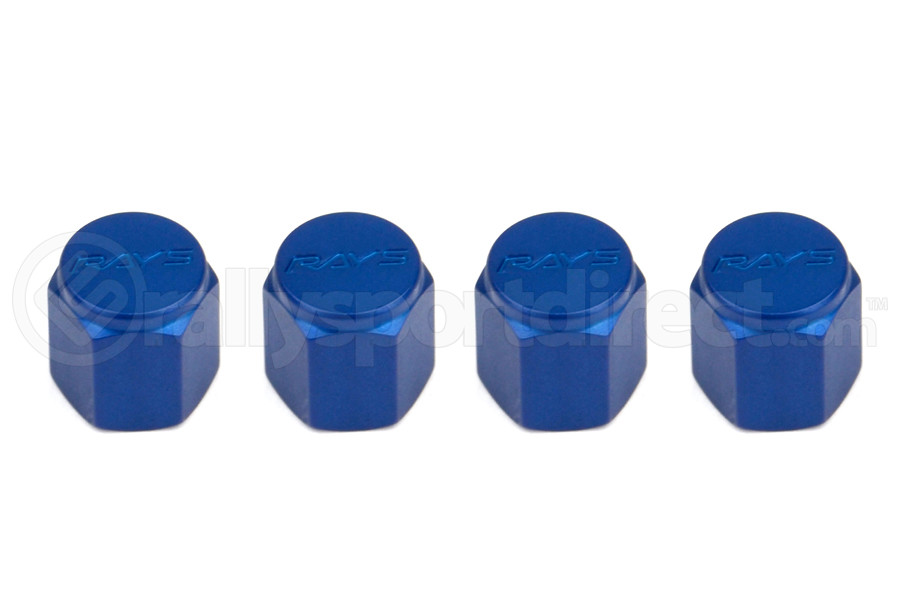 Volk Racing Rays Valve Stem Caps Blue (Part Number:WVALBL2)