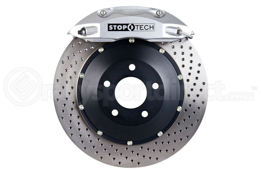 Stoptech ST-40 Big Brake Kit Front 332mm Silver Drilled Rotors (Part Number:83.836.4600.62)