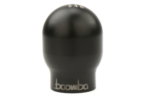 Boomba Racing Engraved Oval Shift Knob Black (Part Number: )