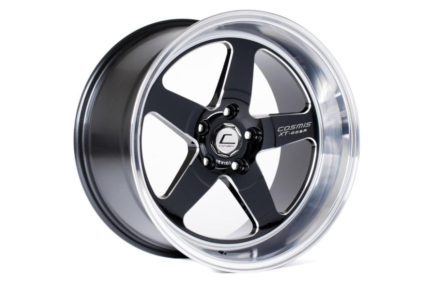 Cosmis Racing Wheels XT-005R 18x9 +25 5x120 Black w/ Machined Lip - Universal