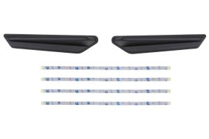 OLM Matte Black JDM Style Canards - Subaru WRX / STI 2015 - 2020