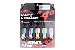 KICS R40 Neo Chrome 12x1.50 Lug Nuts (Part Number: )