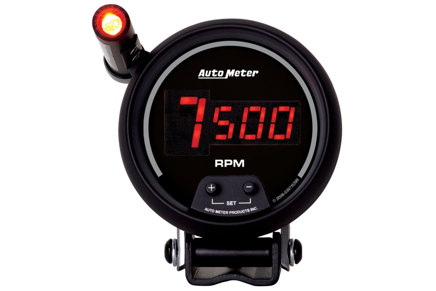 Autometer Sport-Comp Digital Pedestal Tachometer Gauge w/ Shift Light Red  LED 3-3/4in
