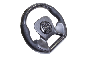 NRG Carbon Fiber Steering Wheel 320mm Perforated Black - Universal