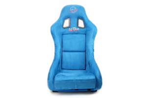 NRG Innovations FRP Bucket Seat ULTRA Edition w/ Pearlized Back Blue Alcantara - Universal