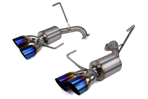 Nameless Performance Axle Back Quad Exit Exhaust w/ 5in Mufflers and Burnt Tips - Subaru STI 2019-2020