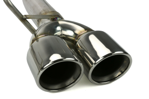 ETS Axle Back Exhaust System No Muffler Polished Tips (Part Number: )