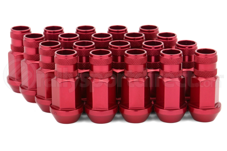 Gorilla Aluminum Open End Red Lug Nuts 12x1.25 (Part Number:44028RD-20)
