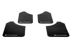 Rally Armor UR Mudflaps Black Urethane White Logo (Part Number: )