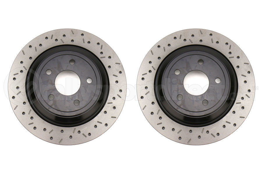 DBA XS 4000 Series Drilled / Slotted Rear Rotor Pair - Ford Focus RS 2016 - 2018