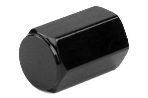 Wheelmate Valve Caps w/ TPMS Valve Step Sleeves Black - Universal