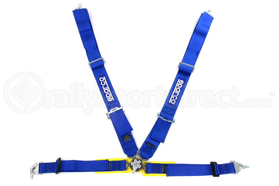 Sparco Harness Belt 4-Point Competition Blue (Part Number:04715MAZ)