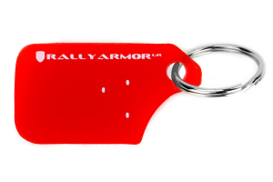 Rally Armor Red UR Mudflap Keychain ( Part Number: RA-KYCHN-RD/WH)