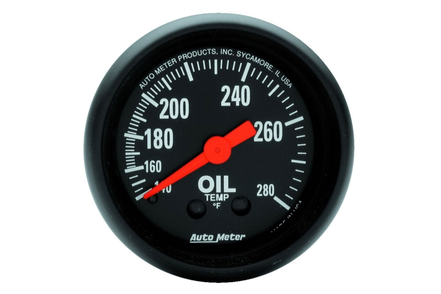 Autometer Z-Series Oil Temperature Gauge Mechanical 52mm - Universal