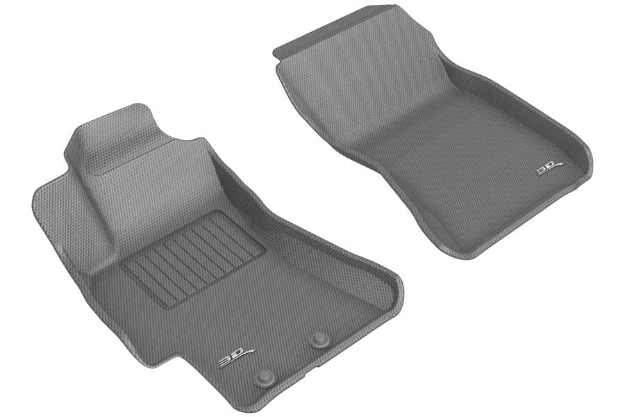 3D MAXpider KAGU Front Floor Liners Gray - Subaru Models (inc. 2008-2014 WRX / STI / 2008-2011 Impreza)