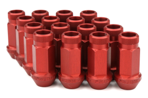 Password JDM Red Lug Nuts Open Ended 16pc 12x1.5 - Universal