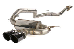 AWE Touring Edition Cat Back Exhaust Resonated Diamond Black Tips - Ford Focus ST 2013+