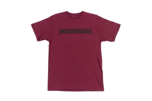 HOONIGAN Bracket Logo Short Sleeve Burgundy Tee - Universal