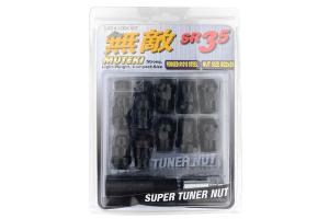 Muteki SR35 16+4 Closed Ended Black Lug Nuts 35mm 12x1.50 (Part Number: )