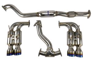 Invidia R400 Gemini Cat Back Exhaust w/Titanium Tips - Subaru STI Hatchback 2008-2014 / WRX Hatchback 2011+