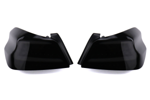 Spec-D Sequential LED Tail Lights Glossy Black Housing w/ Smoked Lens and White LED Bar - Subaru WRX / STI 2015 - 2020