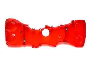 IAG Transparent Red Timing Belt Covers - Subaru Models (inc. 2004-2007 STI / 2002-2014 WRX)