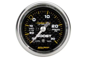 Autometer Carbon Fiber Boost Gauge Electrical 52mm - Universal