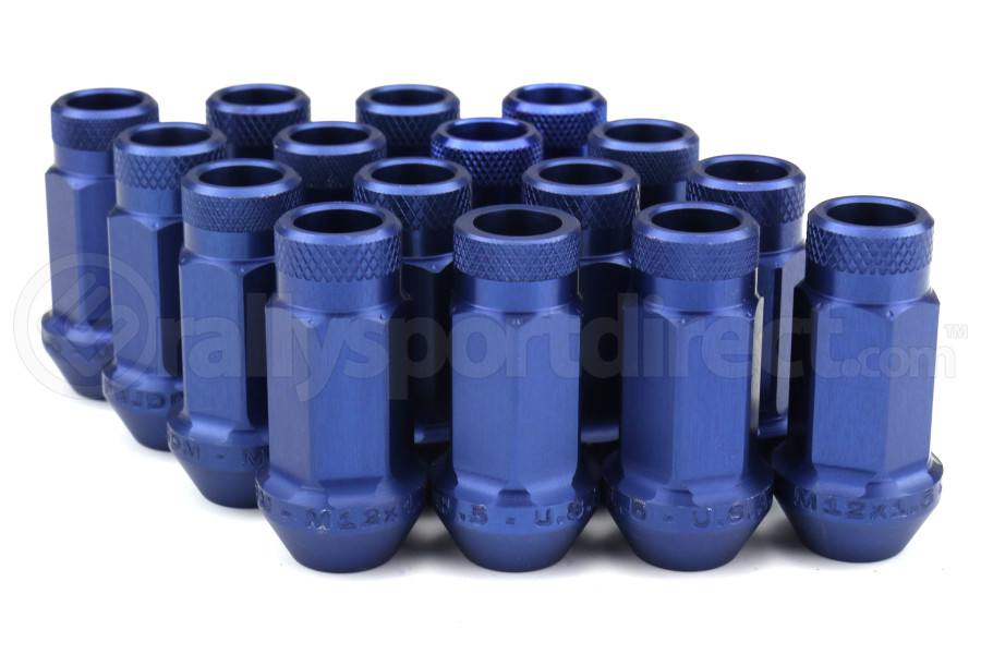 Password JDM Blue Lug Nuts Open Ended 16pc 12x1.5 - Universal