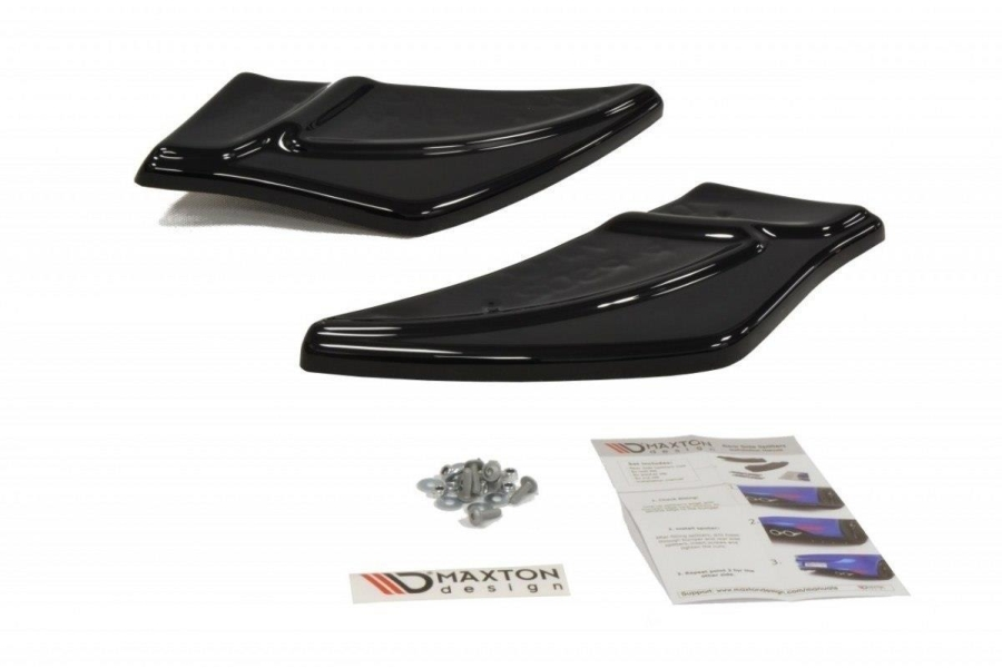 Maxton Gloss Black V2 Rear Side Splitters  (Part Number:VWGO7RRSD2G)