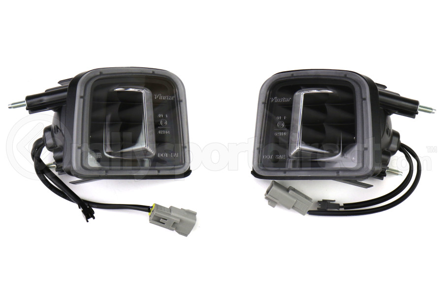 OLM Turn Signal Housing Clear Lens Matte Black Base (Part Number:OLM-15WRX-TS-MB)