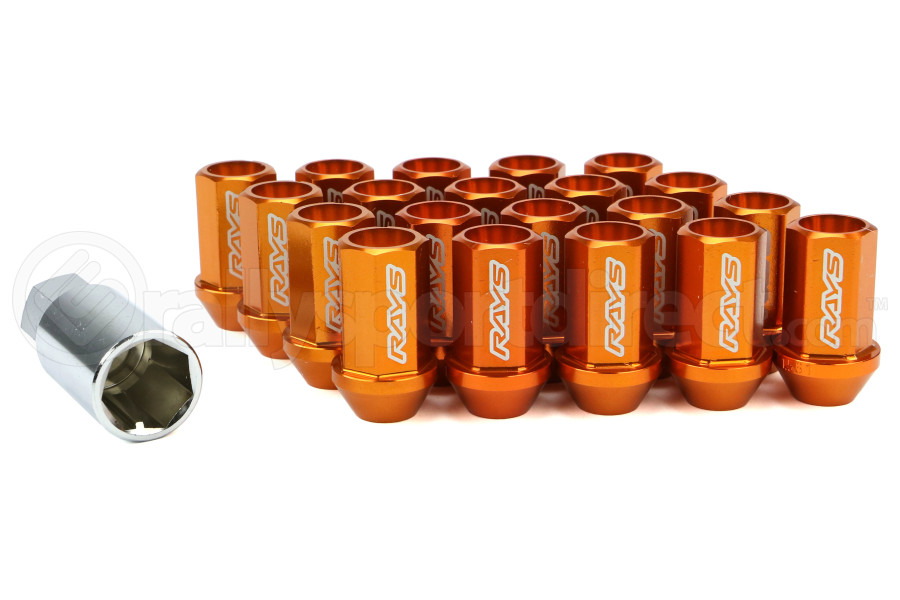 Volk Racing Dura-Nut L42 Straight Type M12X1.50 Lock and Nut Set Orange (Part Number:WDURA4212150O)