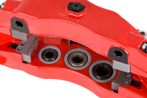 Stoptech ST-60 Big Brake Kit Front 355mm Red Zinc Slotted Rotors ( Part Number:STP 83.625.6700.73)